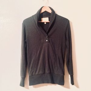 Banana Republic Dark Gray Pullover with Buttons